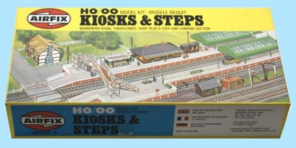 AIRFIX: 03602-9 HO/OO KIOSK & STEPS (SERIES 3) - ORIGINAL BOX - SEALED