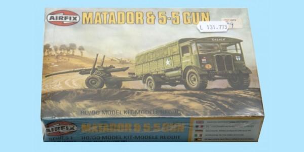 AIRFIX: 61314 MATADOR & 5.5 GUN 1:76 - ORIGINAL BOX - SEALED