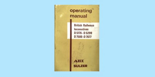 OPERATING MANUAL - D5176-D5299, D7500-D7677