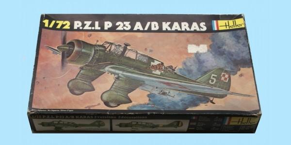 HELLER: 247 P.Z.L. P23 A/B KARAS - ORIGINAL BOX - UNMADE