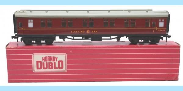 HORNBY DUBLO: 4078 W2402 SLEEPING CAR - ORIGINAL BOX - VERY GOOD