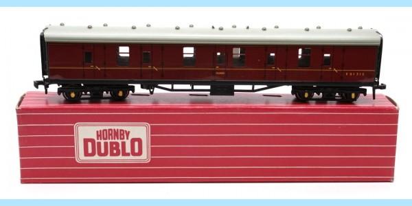 HORNBY DUBLO: 4075 E81313 PASSENGER BRAKE VAN - ORIGINAL BOX - EXCELLENT