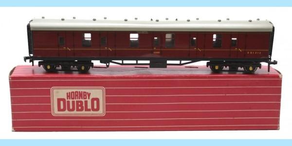 HORNBY DUBLO: 4075 E81313 PASSENGER BRAKE VAN - ORIGINAL BOX - VERY GOOD