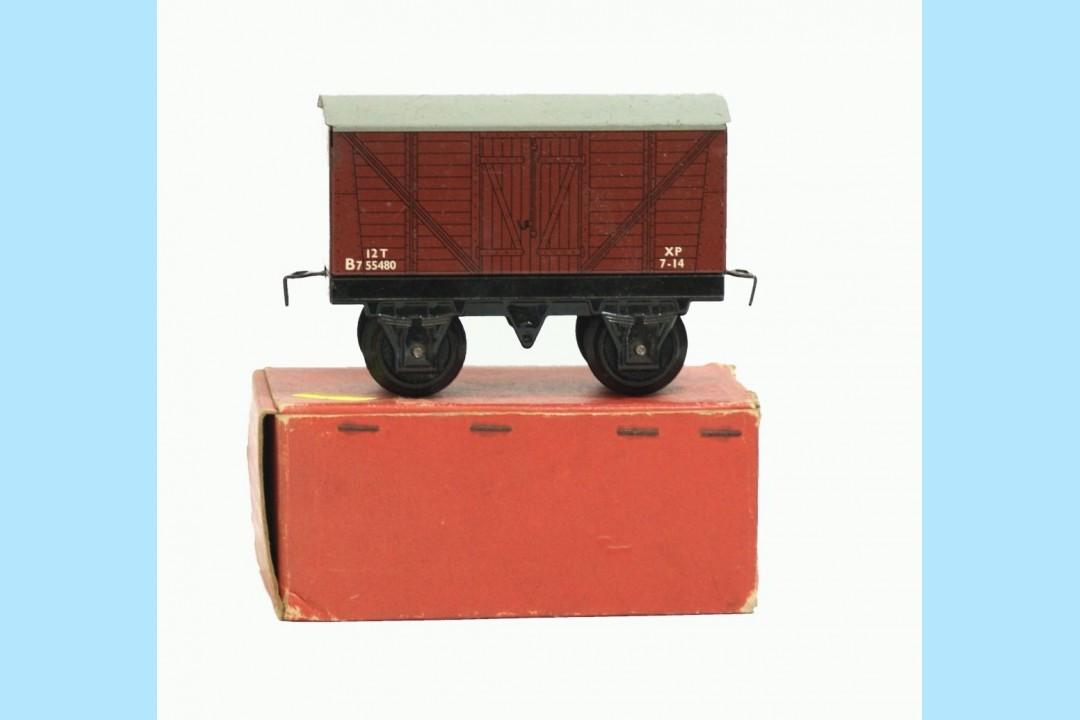hornby trains 42159 goods van original box very good. Black Bedroom Furniture Sets. Home Design Ideas