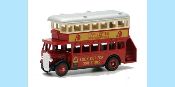 LLEDO: LP015 047A - 1932 AEC REGENT DOUBLE DECK BUS - HAPPY EATER - MINT - BOXED