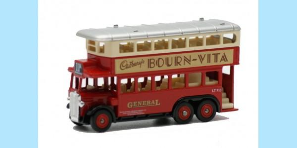LLEDO: DG049 000 - 1931 AEC RENOWN DOUBLE DECK BUS - BOURN-VITA - MINT - BOXED