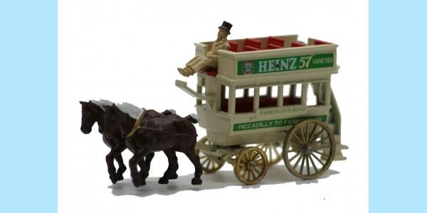 LLEDO: LP004 008 - HORSE DRAWN OMNIBUS - HEINZ 57 - MINT - BOXED
