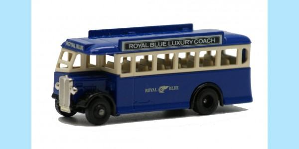 LLEDO: DG017 015B - 1932 AEC REGAL SINGLE DECK BUS - ROYAL BLUE - MINT - BOXED