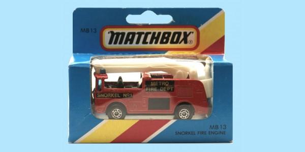 MATCHBOX: MB13 SNORKEL FIRE ENGINE - BOX M - SEALED