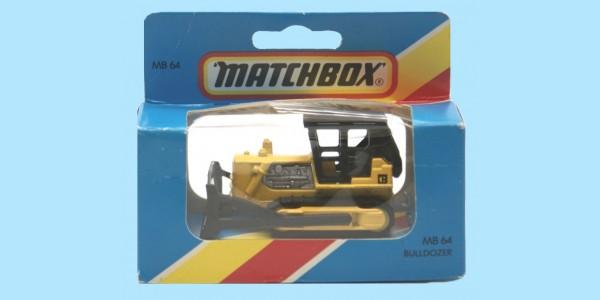MATCHBOX: MB64D - D9 BULLDOZER - BLACK CAB - BOX M - NEW