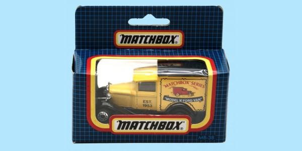 MATCHBOX: MB38E - MODEL A FORD - 'MATCHBOX' - BOX N - MINT - NEW