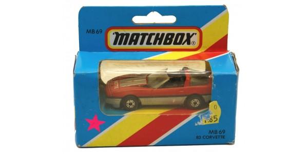 MATCHBOX: MB69E - CORVETTE - RED / GREY - ORIGINAL BOX SEALED - MINT - NEW