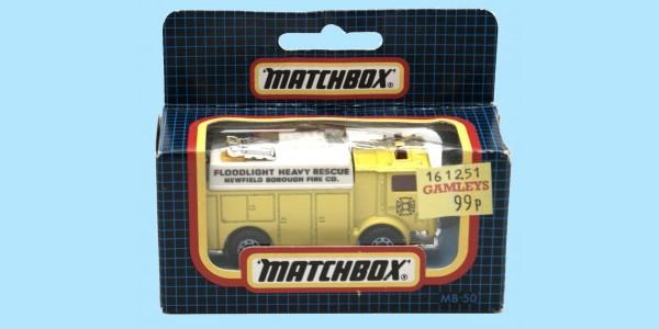 MATCHBOX: MB50G - MACKAUXILIARY POWER TRUCK - YELLOW - BOX N - NEW