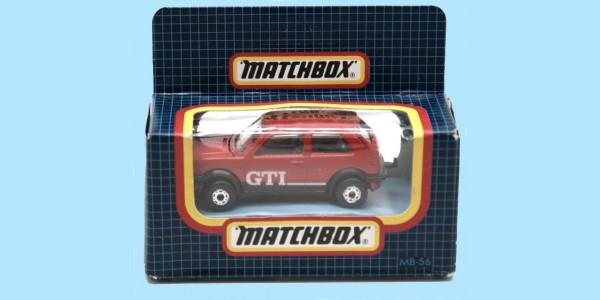 MATCHBOX: MB56E - VW GOLF GTI - RED - BOX N - NEW - SEALED