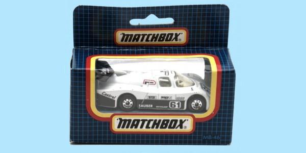 MATCHBOX: MB46E - SAUBER GROUP C - BLACK/WHITE - BOX N - NEW