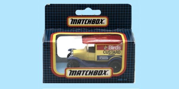MATCHBOX: MB44G - 1921 MODEL T FORD - 'BIRDS CUSTARD' - BOX N