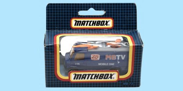 MATCHBOX: MB73D TV NEWS TRUCK - BOX N - SEALED - NEW
