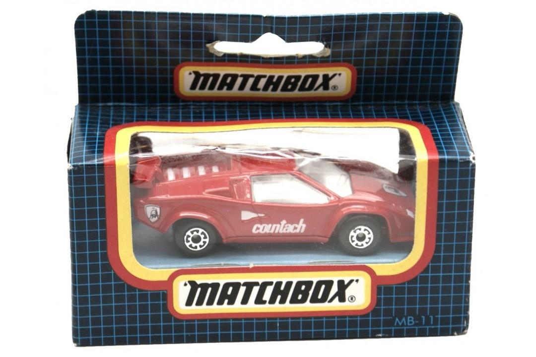 Matchbox Mb11f Lamborghini Countach Lp500s Red Mint New