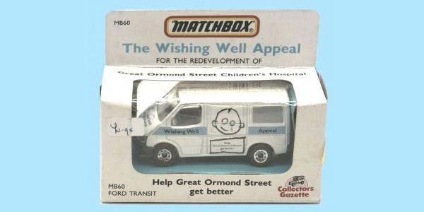 MATCHBOX: MB60G FORD TRANSIT - 'GT ORMOND STREET' - BOX N - NEW