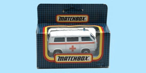 MATCHBOX: MB20E - VW TRANSPORTER AMBULANCE - 'ORANGE' - NEW