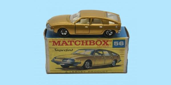 MATCHBOX SUPERFAST: 56A BMC 1800 PININFARINA - GOLD - BOX F2 - NEAR MINT