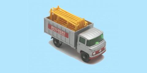 MATCHBOX: 11D MERCEDES SCAFFOLDING TRUCK - BOX F2 - EXCELLENT