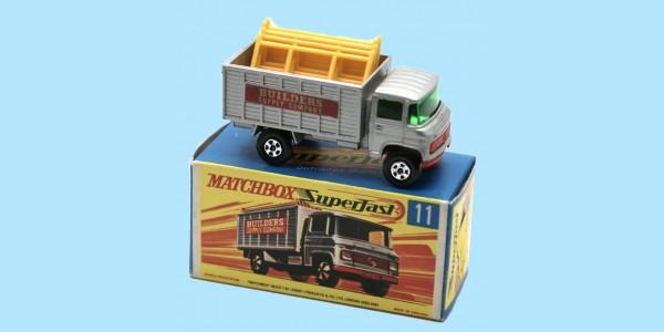 MATCHBOX SUPERFAST: 11D SCAFFOLDING TRUCK - SILVER - BOX G2 - MINT