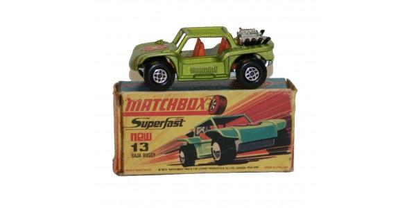 MATCHBOX SUPERFAST: 13E BAJA BUGGY - LIGHT GREEN - ORIGINAL BOX - MINT