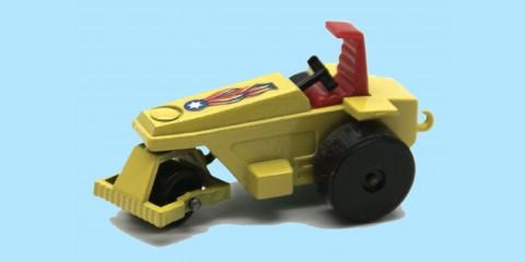 MATCHBOX SUPERFAST: 21E ROD ROLLER - YELLOW / BLACK ROLLERS - BOX  I1 - MINT