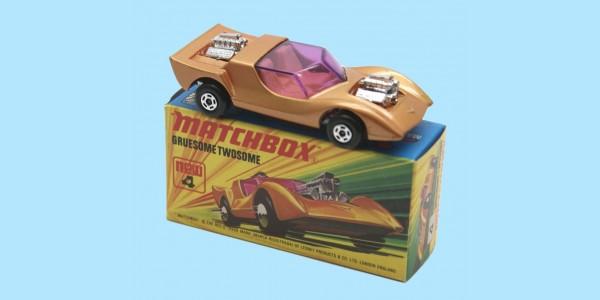 MATCHBOX SUPERFAST: 04E GRUESOME TWOSOME - GOLD - BOX  I1 - MINT