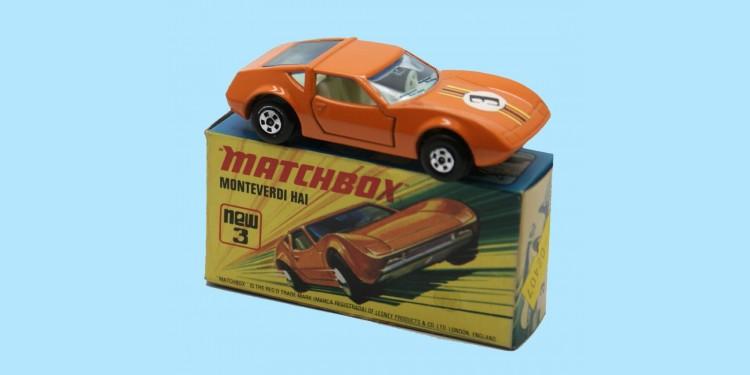 MATCHBOX SUPERFAST: 03B MONTEVERDI HAI - LIGHT ORANGE - BOX I1 - MINT