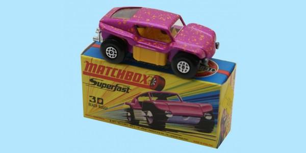MATCHBOX SUPERFAST: 30D BEACH BUGGY - METALLIC PURPLE - BOX H2 - MINT