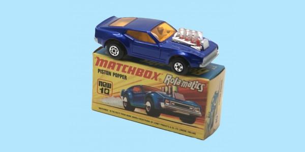 MATCHBOX SUPERFAST: 10E PISTON POPPER - BLUE - BOX  I1 - MINT