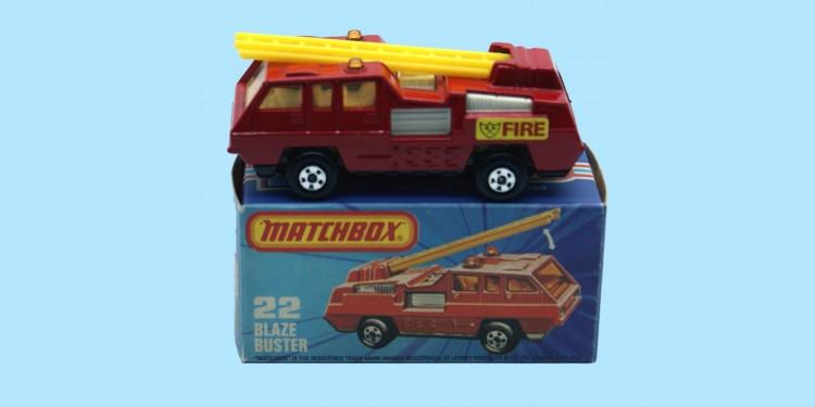 MATCHBOX SUPERFAST: 22C BLAZE BUSTER - RED/WHITE - BOX K - MINT