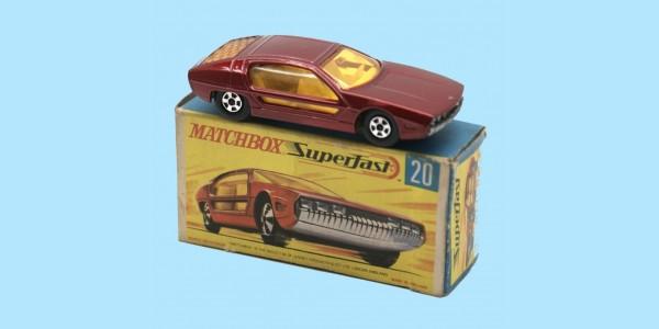 MATCHBOX SUPERFAST: 20D LAMBORGHINI MARZAL - METALLIC RED - BOX G2 - MINT