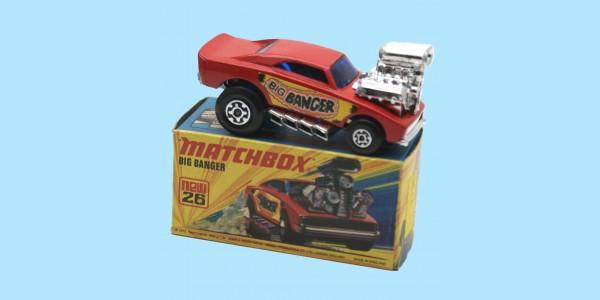 MATCHBOX SUPERFAST: 26D BIG BANGER - RED/BLUE - BOX  I1 - MINT