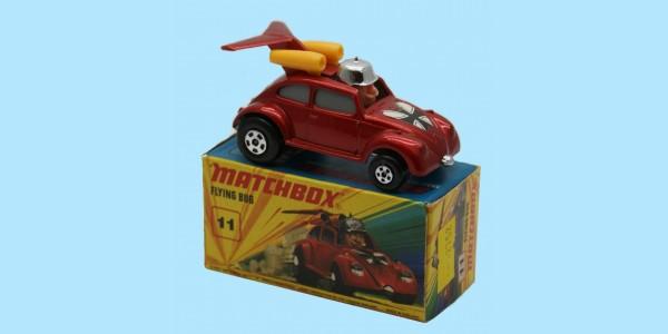 MATCHBOX SUPERFAST: 11E FLYING BUG - RED/GREY WINDOWS - BOX I2 - MINT