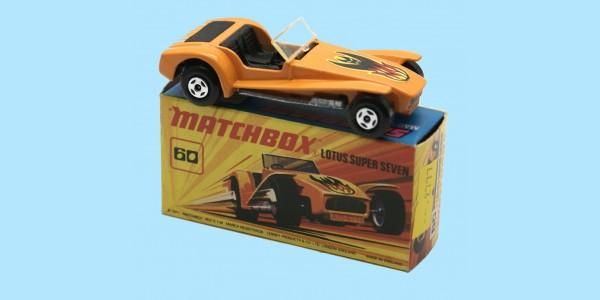 MATCHBOX SUPERFAST: 60C LOTUS SUPER SEVERN - ORANGE - BOX  I2 - MINT