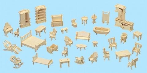 Quay woodcraft construction 34 piece furniture set new for Furniture quay
